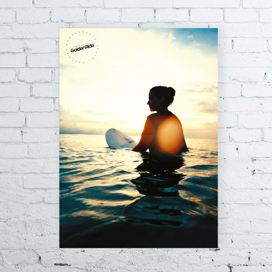 Surfposter Sunset