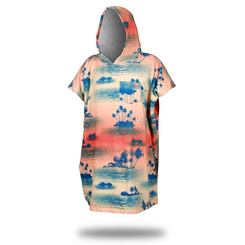 "Surf Poncho - After Essentials - Surfponcho ""Palm Tree"" in sunset"