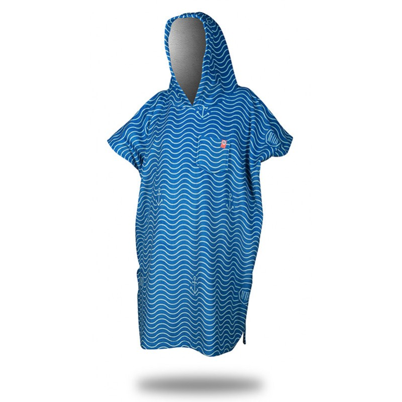 "Surf Poncho-After Essentials - Surfponcho ""Waves"" in marine"