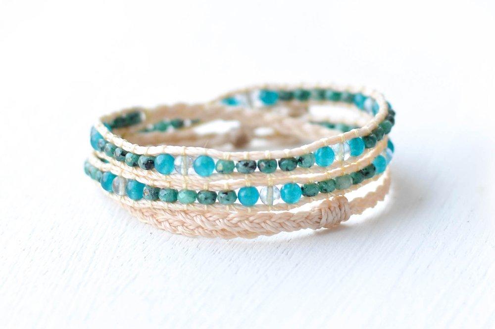 Shimmy Bracelets - Kai Triple Wrap Bracelet