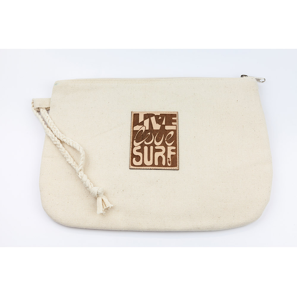 Jacare - Travel Wrist Bag Live Love Surf
