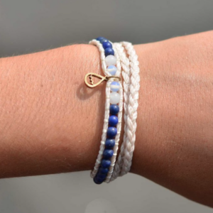 Shimmy-Deep Water Double Wrap Bracelet