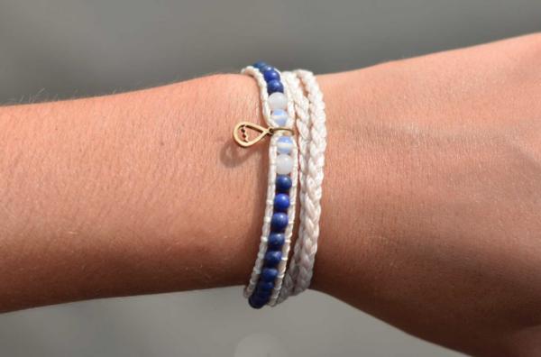 Shimmy-Deep Water Double Wrap Bracelet