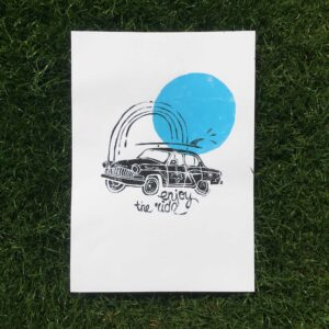 Illustration Car Oh Ocean, Surfart, Surf Illustration, Surfposter