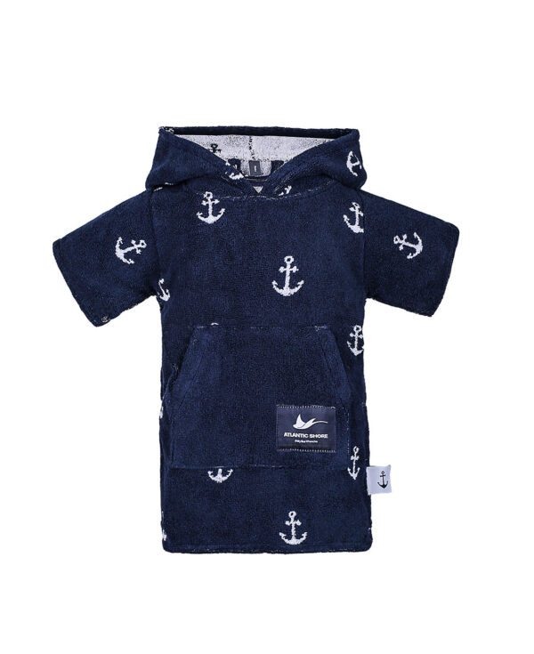 Surf-Poncho - Atlantic Shore - Anchor Baby Navy Blue