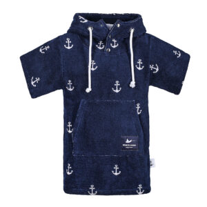 Kinder Surf-Poncho - Atlantic Shore - Anchor Kids Navy Blue
