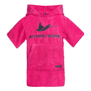 Kids Surf Poncho - Atlantic Shore - Basic Pink
