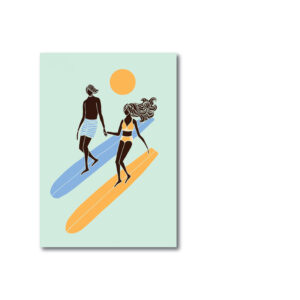 Lizzy Artwork, Surfgirl Vintage, Surf Art, Surfart, Illustration Surfen, Lizzy Artwork