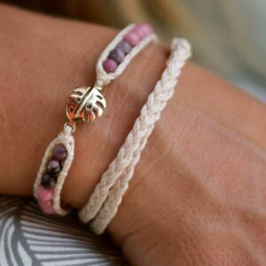 Shimmy Bracelets Monstera Rosé
