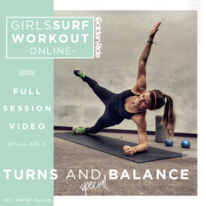 Girls Surf Workout Online Turns and Balance Special